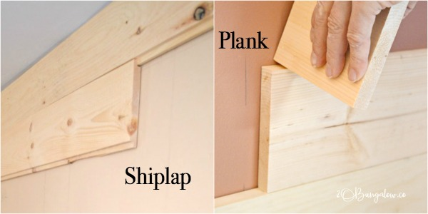 Diy Shiplap Vs Planked Wood Walls H20bungalow