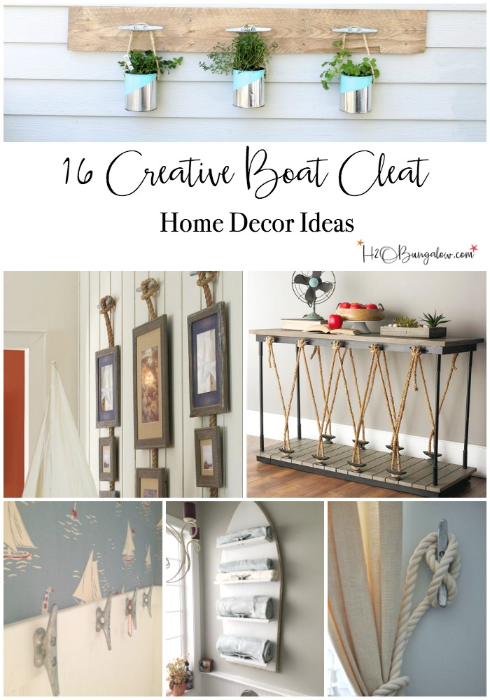 Nautical Decorating Ideas Home Part - 40: Find 16 Over The Top Creative Boat Cleat Decorating Ideas For Coastal Decor  Here. DIY