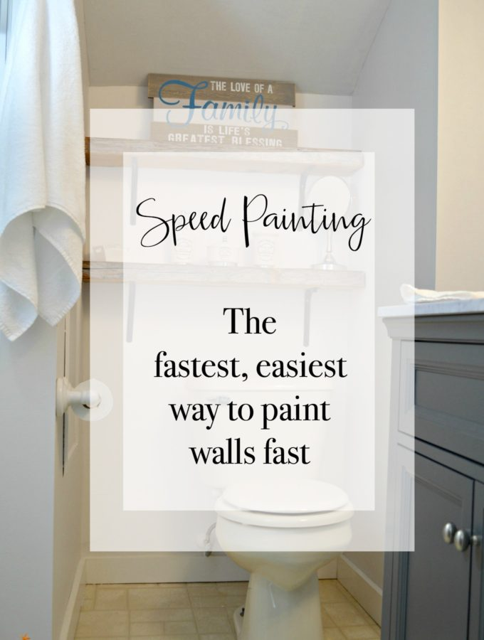 Can you paint an 8 x 10 foot wall in under a minute? Yes! Speed painting the fastest easiest way to paint walls fast with little mess and easy cleanup.