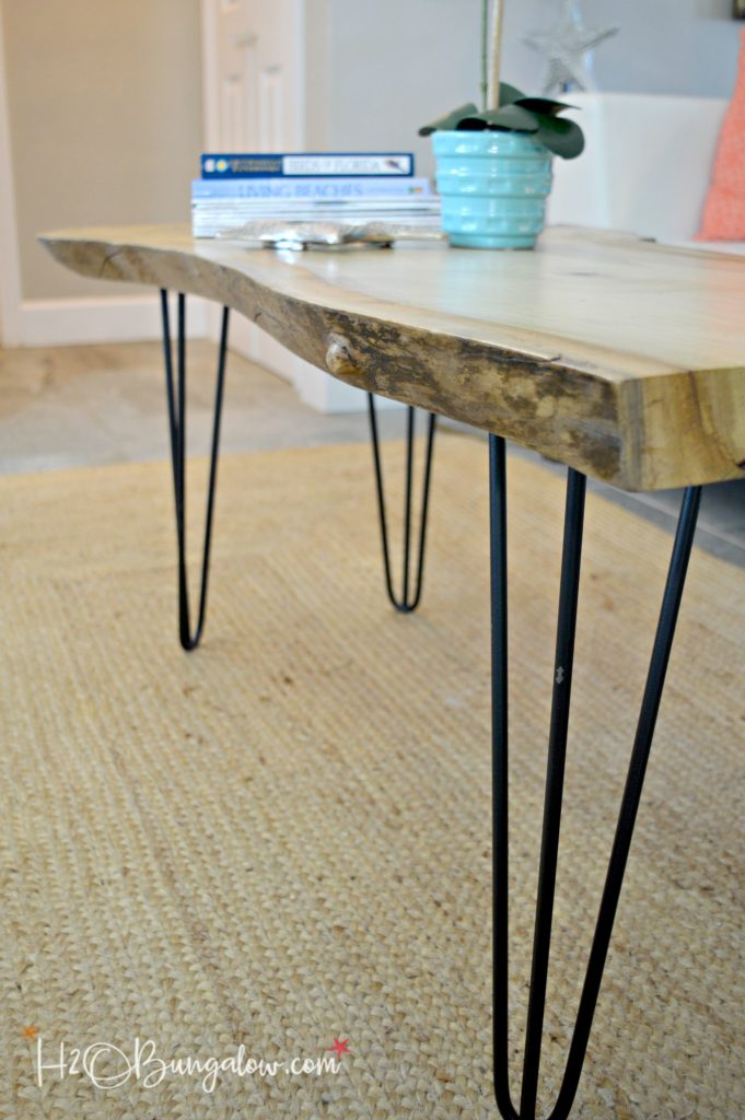 you can DIY? Simple tutorial to make a DIY live edge wood coffee table ...