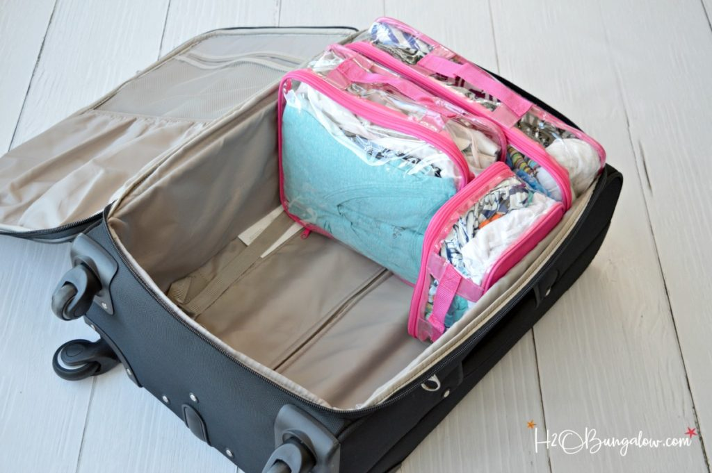 Best organization tips for travel and packing a suitcase with easy to follow checklist. EZPacking cubes is the best and easiest travel organization method to follow for the single traveler or an entire family. H2OBungalow