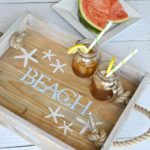 DIY Coastal Rope Handle Tray Tutorial