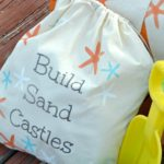 Stenciled DIY Canvas Starfish Beach Bags