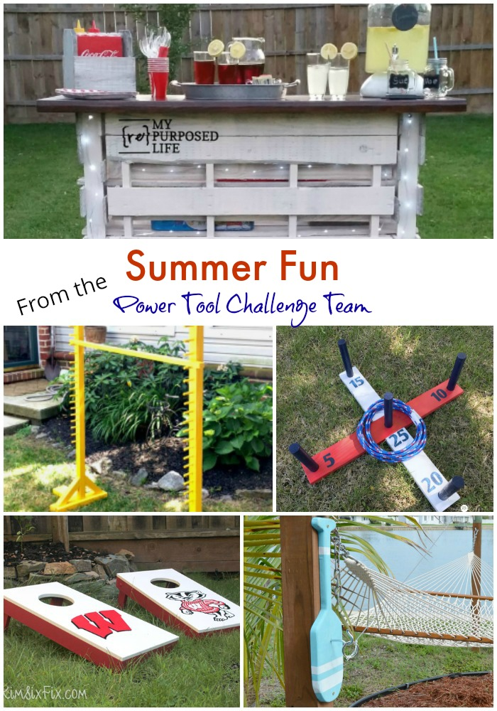 summer fun power tool challenge collage