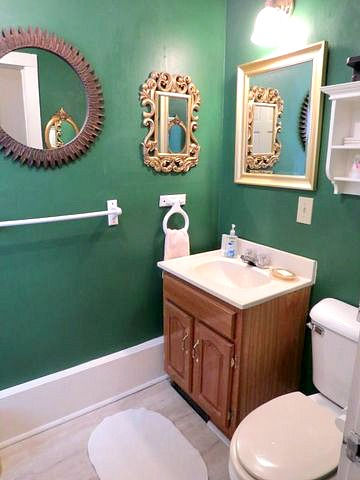 Five inspiring before and after bathroom remodels from a DIY Blogger. Includes coastal, farmhouse and contemporary bathroom remodel ideas with tutorials. Find over 450 home improvement and home decor tutorials on H2OBungalow.com.