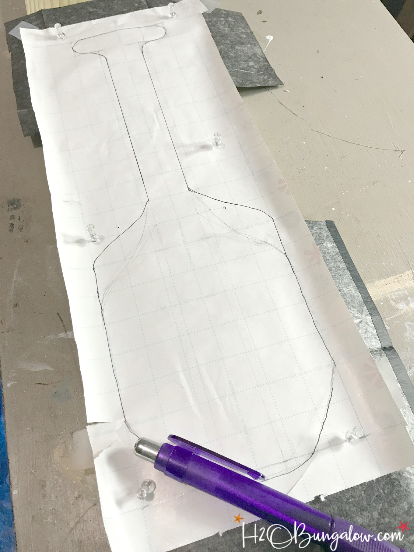 template for backboard of DIY hook and ring game