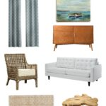 Contemporary Coastal Living Room Makeover