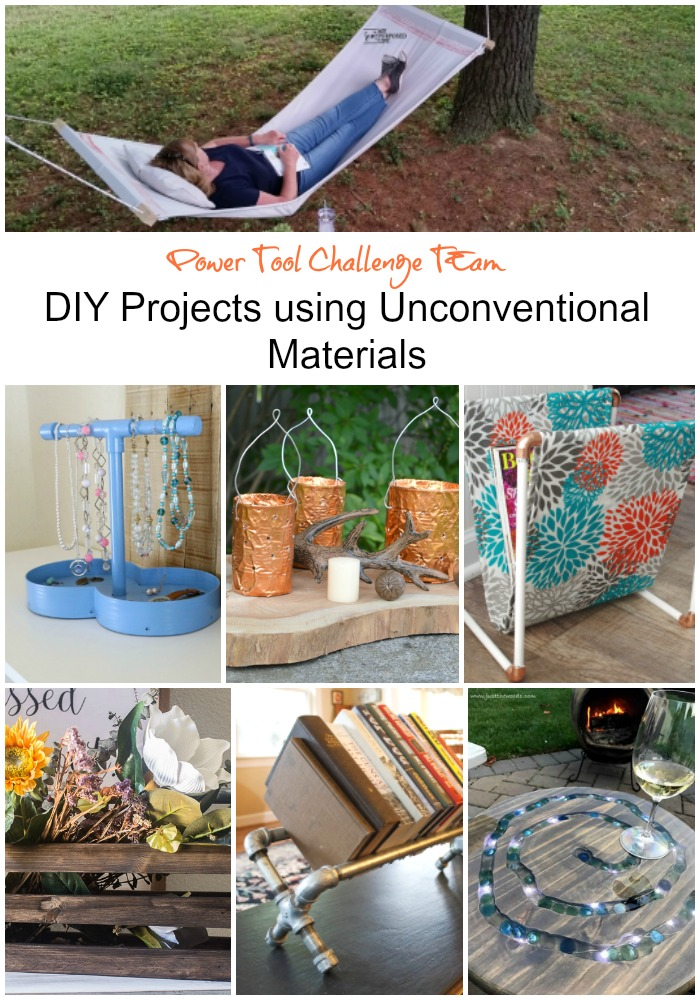 Power tool DIY projects with unconventional materials.