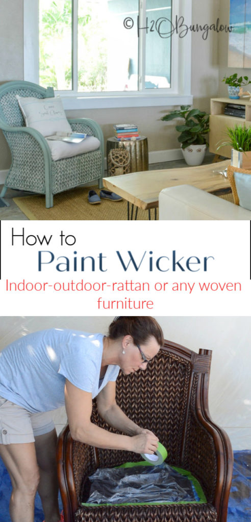 How To Paint Wicker Furniture Quickly And Easily H2obungalow