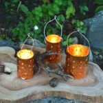 DIY Copper Tin Can Candle Holders
