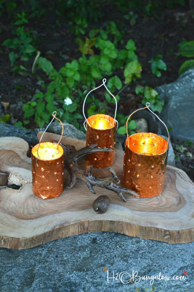 Diy Copper Tin Can Candle Holders H20bungalow