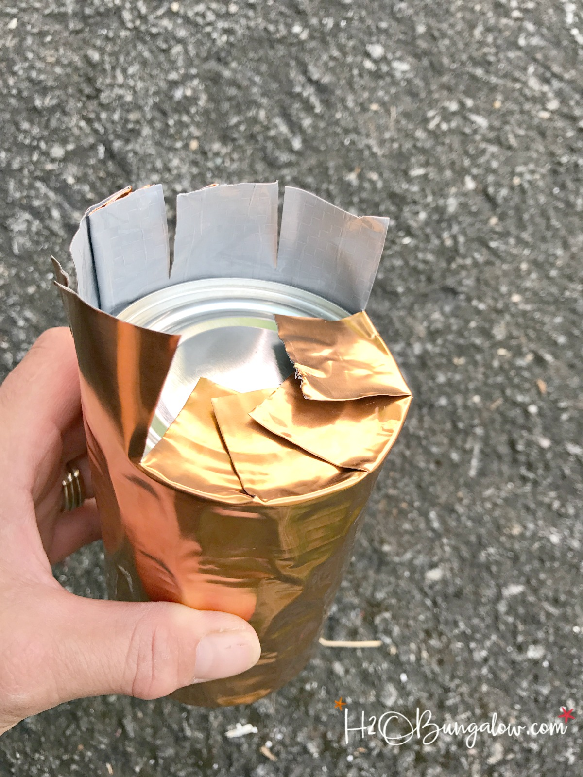 Diy Copper Tin Can Candle Holders H2obungalow