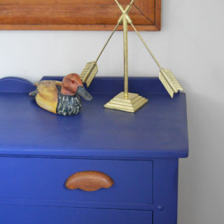 Simple step by step tutorial for a blue painted dresser makeover using Beyond Paint. Follow these steps for all furniture makeovers and a perfect finish.