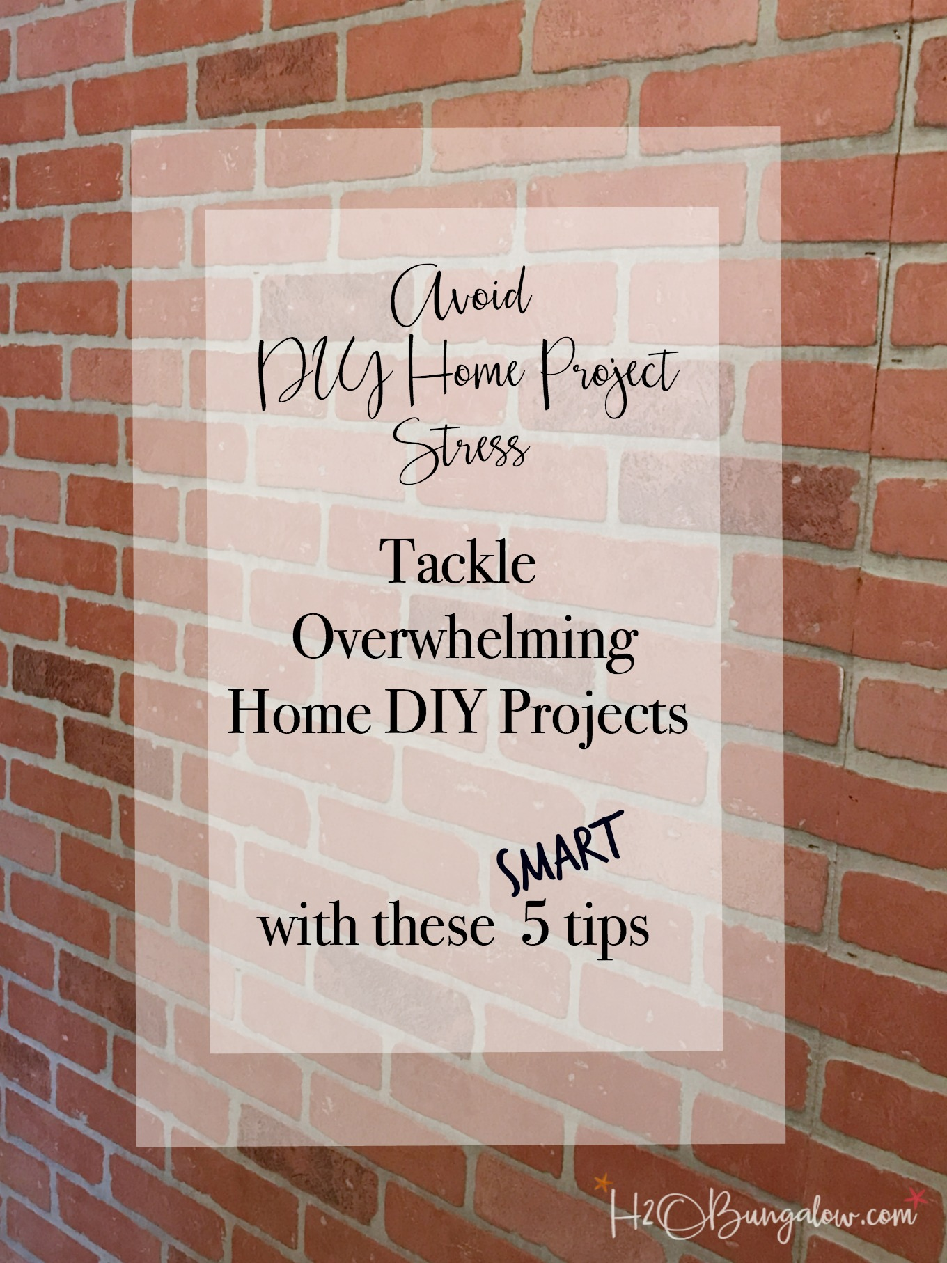 How to avoid home DIY project stress with 5 tips to tackle overwhelming home projects. Use these DIY organization tips to tackle your home remodel project.