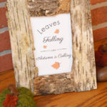 Easy DIY Birch Bark Picture Frame