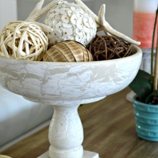 Old salad bowl and bed spindle upcycled into a home decor pedestal bowl plus 10 more clever ways to repurpose and upcycle old stuff. DIY project ideas to inspire you to create new uses for old items into pretty and functional home decor.