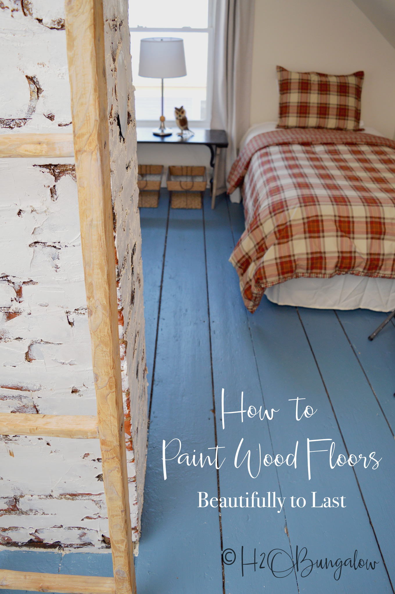 How to Paint Wood Floors Beautifully to Last - H4OBungalow