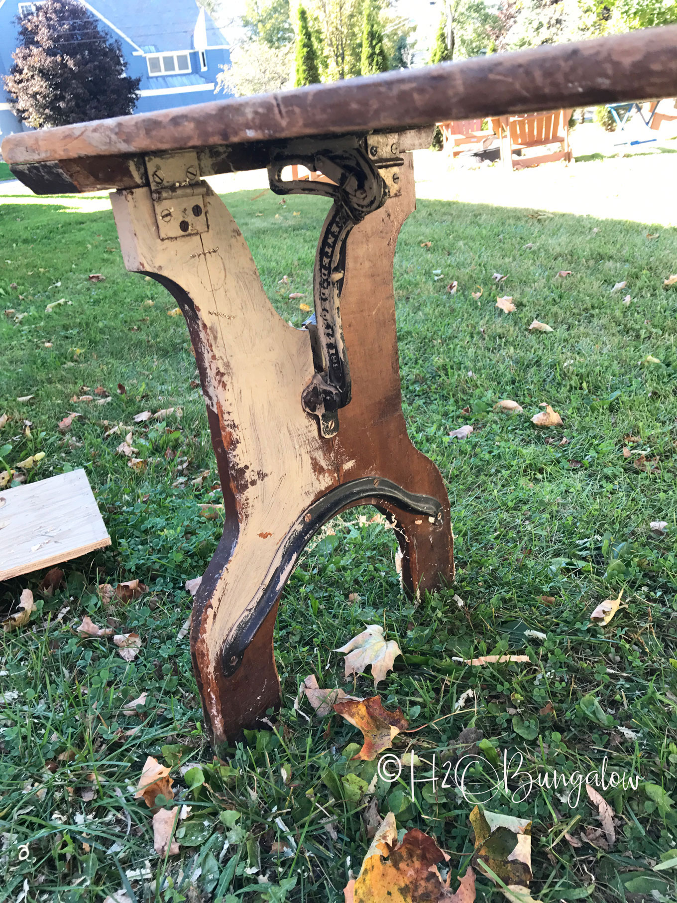 Brilliant Vintage Folding Bench Makeover Into Bedside Table H2Obungalow Machost Co Dining Chair Design Ideas Machostcouk