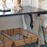 Vintage Folding Bench Makeover into Bedside Table