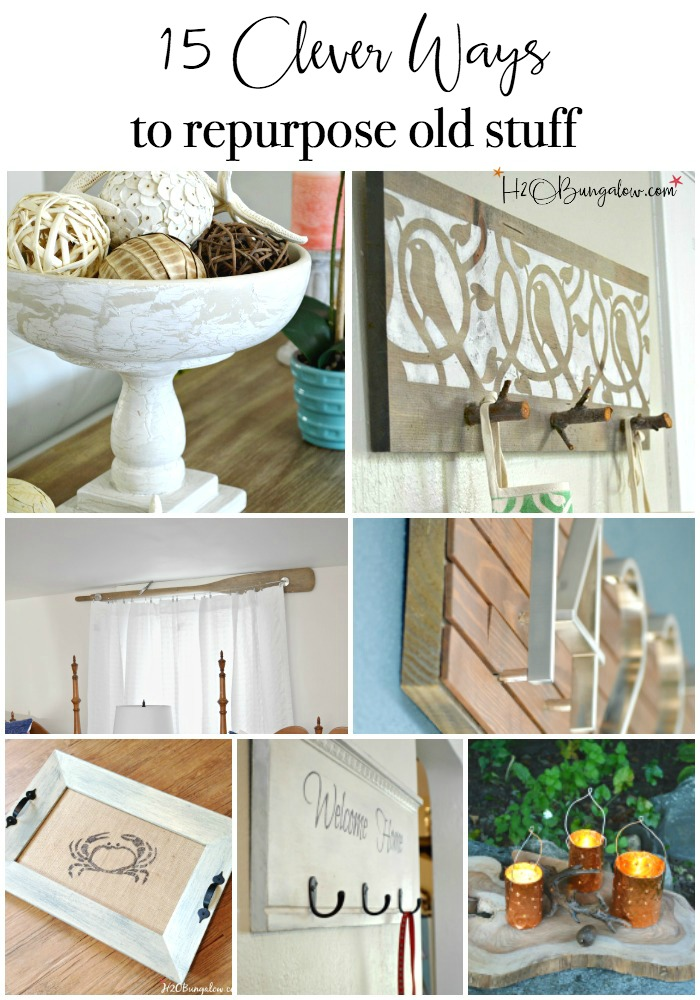 Clever ways to repurpose and upcycle old stuff. DIY project ideas to inspire you to create new uses for old items into pretty and functional home decor.