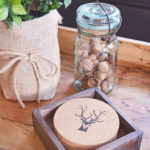 Rustic Deer Antler DIY Drink Coasters