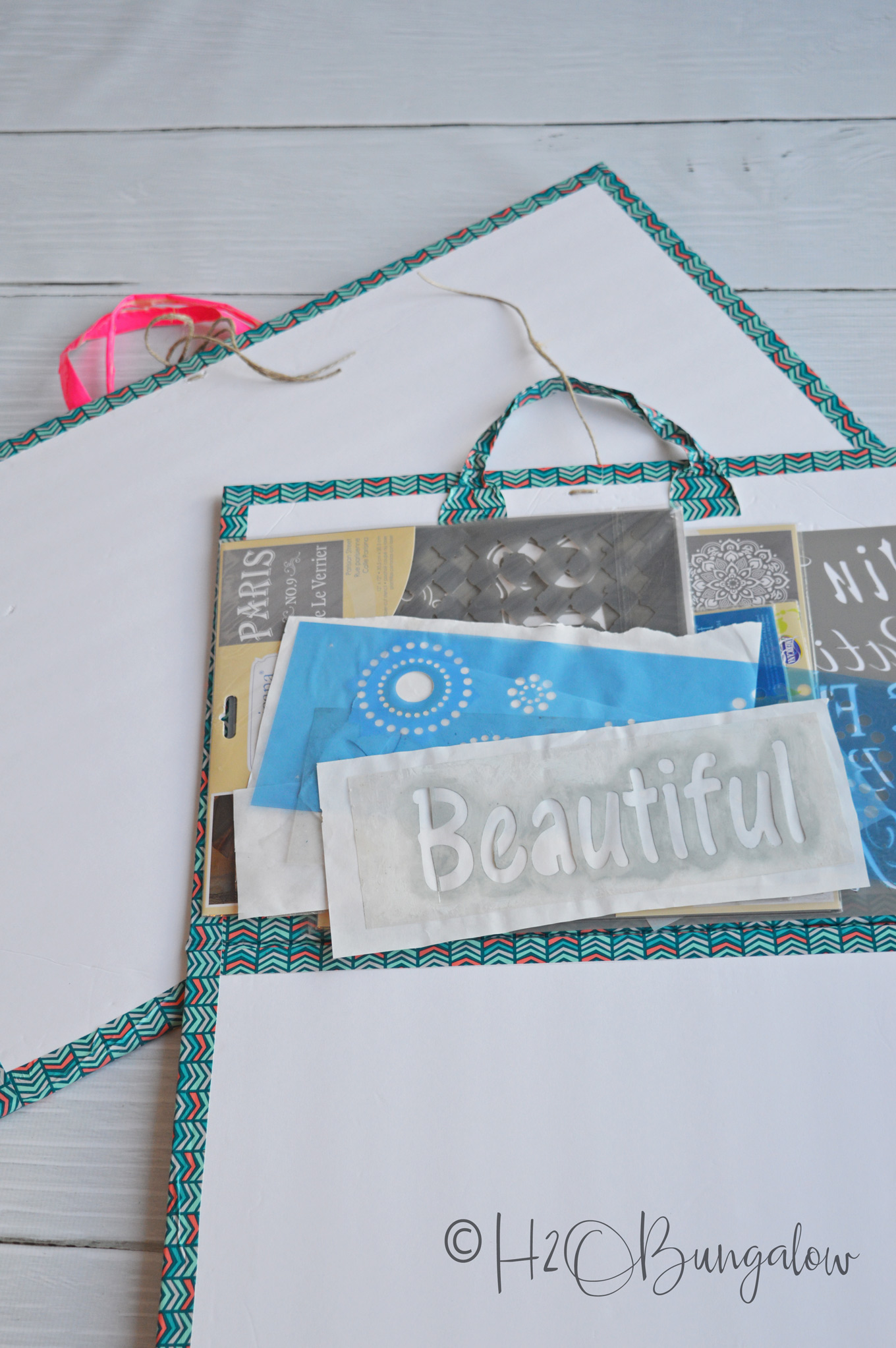I needed to figure out how to store and organize stencils without taking up a lot of room in my office. I made DIY stencil storage protectors that keep my large and small stencils from getting bent or crushed. What a great stencil storing idea! Easy tutorial with step by step instructions on how to make stencil storage