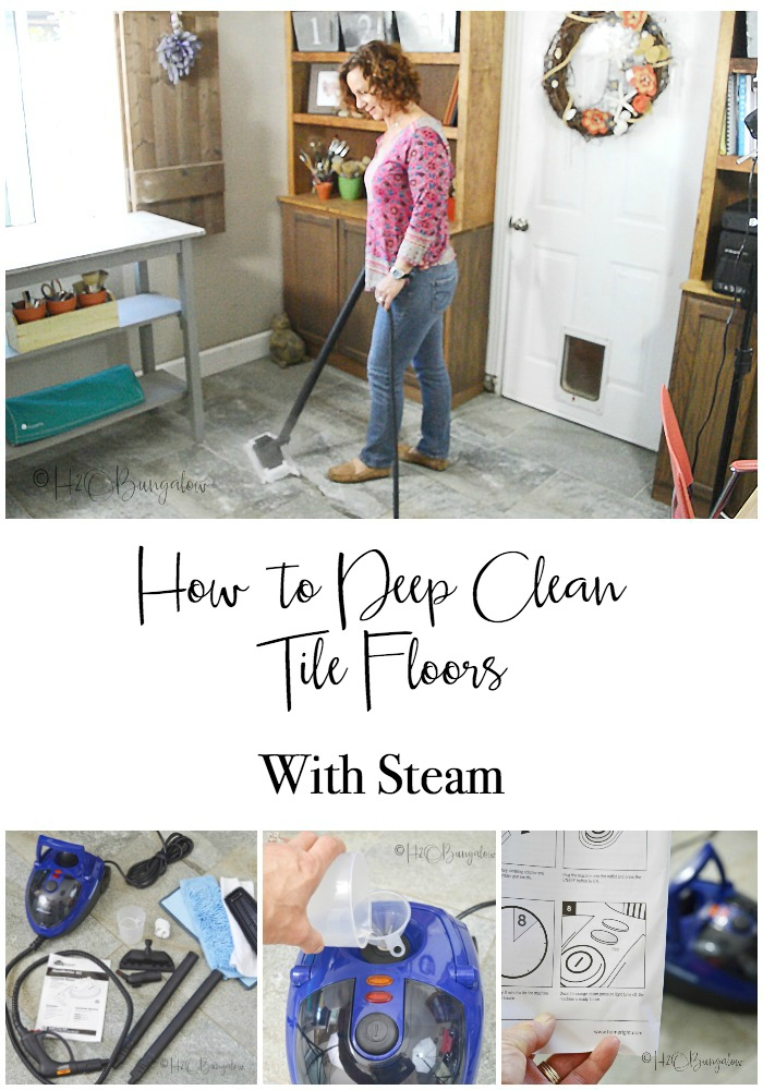 deep clean tile floors with steam h20bungalow. Black Bedroom Furniture Sets. Home Design Ideas