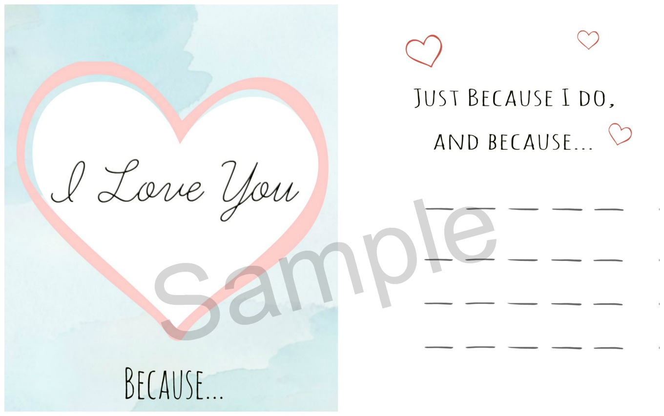 Make a Valentine's Day card and personalize it with your own special thoughts on the inside. Get the free downloadable valentine's card file to print your own card at home.