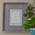 Easy DIY Rustic Picture Frame & More Printable Frames