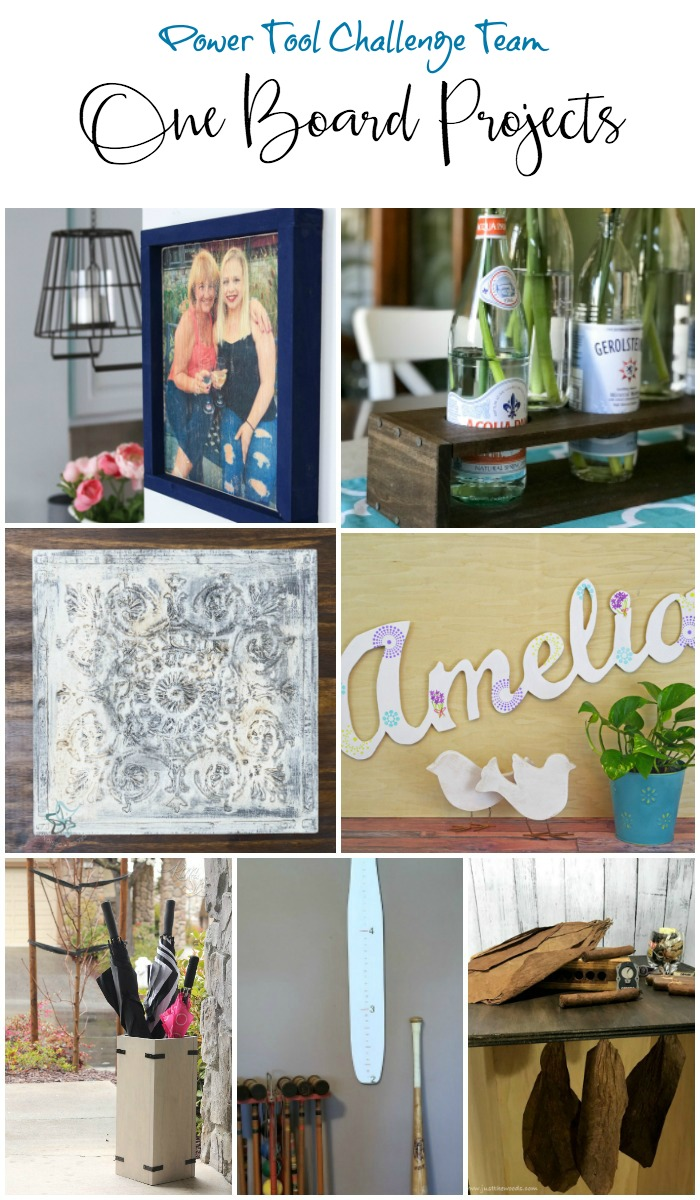 Creative DIY tutorials using one board. Power tool tutorials for simple projects you can do in home decor and more. From the Power Tool Challenge Team #powertoolchallengeteam
