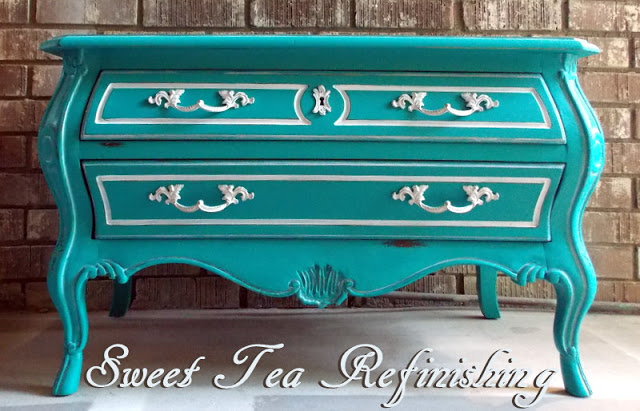 Blue Hutch By Rambling Renovators, Tv Console By Timeless Creations, Bombe  By That Sweet Tea Life