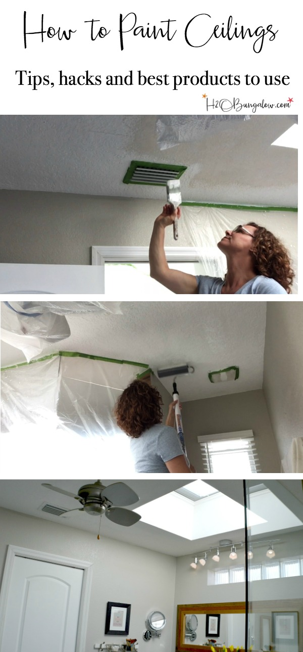 Tutorial and video on how to paint ceilings. Quick read with good tips, tricks and hacks to paint your ceilings and home inside and out. Links to several other good painting tutorials and excellent time saving products to use when painting your ceilings or other DIY home improvement painting projects.