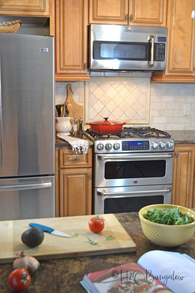 kitchen coastal home tour
