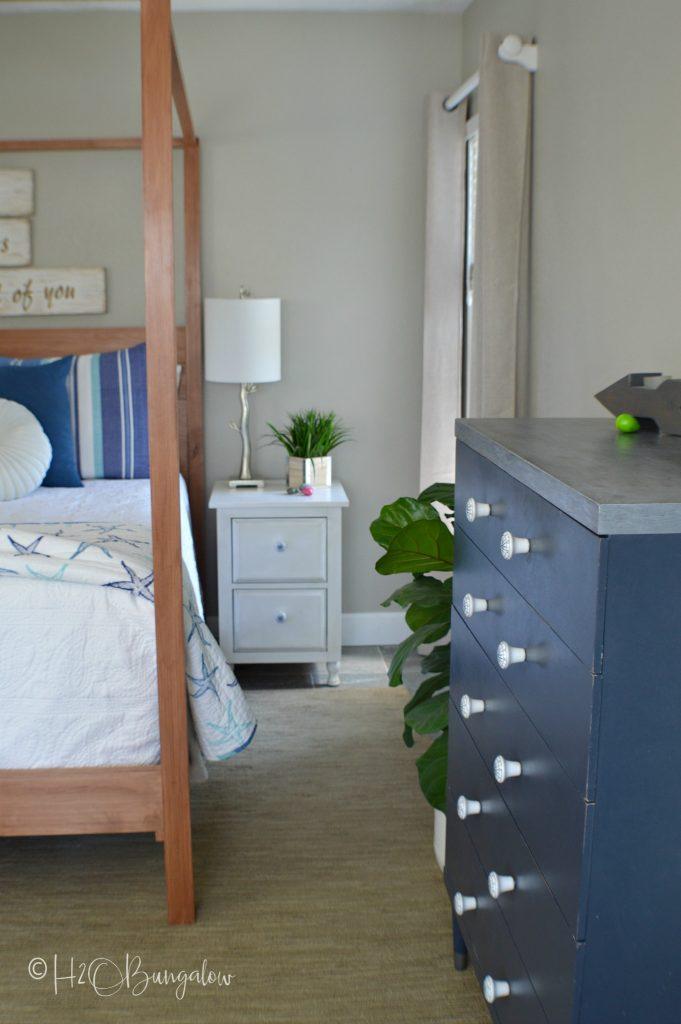 master bedroom coastal home tour