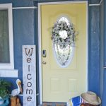 Summer Refresh: Yellow Painted Front Door