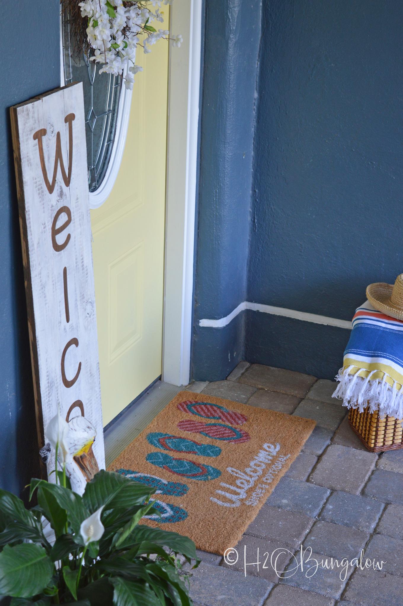 Summer Refresh Yellow Painted Front Door H20bungalow