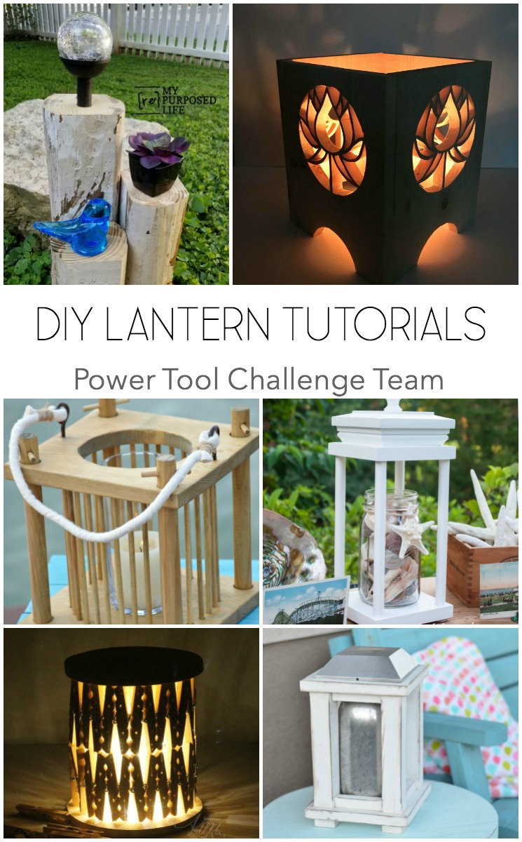 6 DIY wood lantern tutorials from the Power Tool Challenge Team. Make this DIY Wood lantern to make a cozy setting indoor or outdoor make a modern wood lantern that holds a candle.