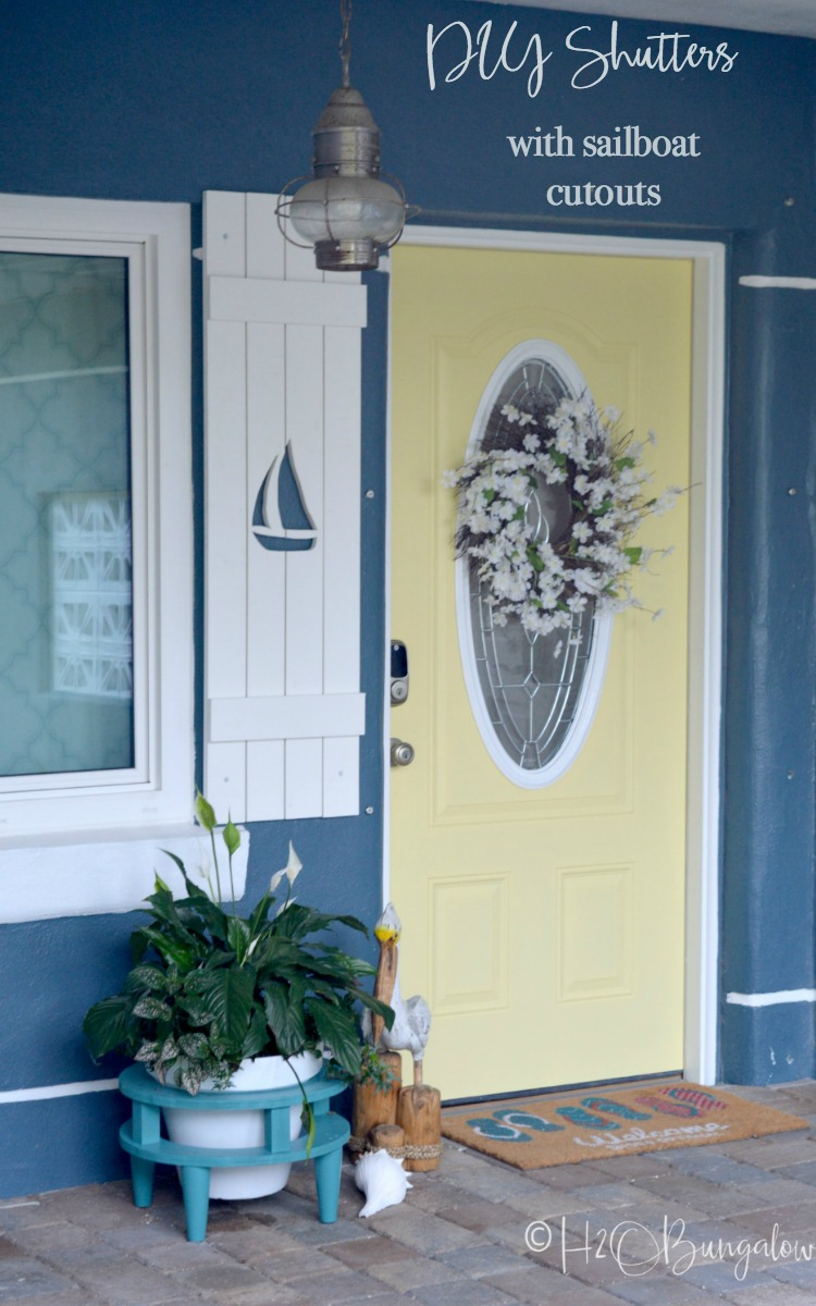 How to Make DIY Shutters With Sailboat Cutouts - H20Bungalow