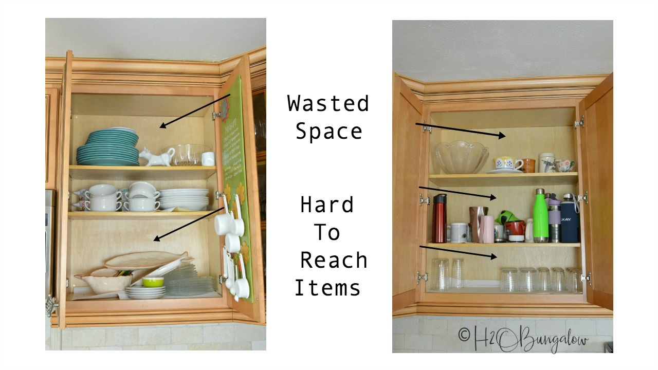 How to add extra shelves to kitchen cabinets video tutorial covers material choices available and shelf  sc 1 st  H2OBungalow & How to Add Extra Shelves to Kitchen Cabinets - H2OBungalow