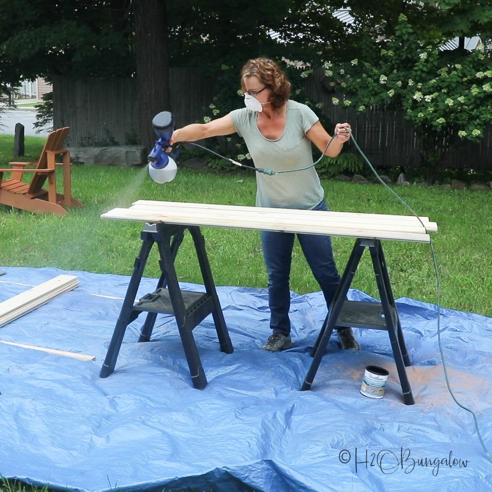 make a diy rustic shiplap headboard tutorial