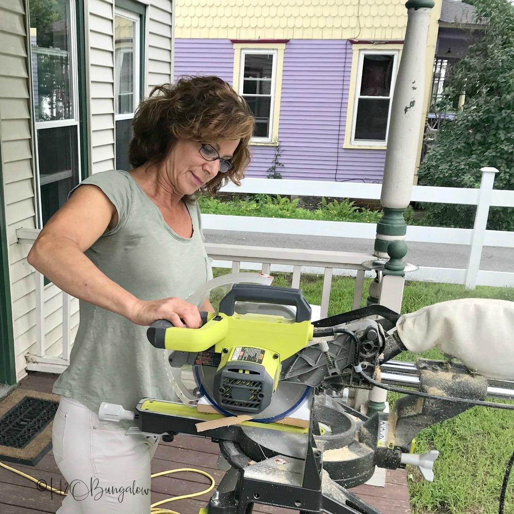 DIY rustic modern queen headboard tutorial