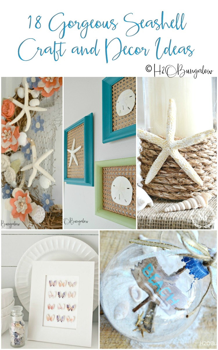 Creative Seashell Craft Ideas You Can Make This Summer. You'll find lots of seashell home decor ideas for your coastal home style #shells #seashellcrafts #beachdecor