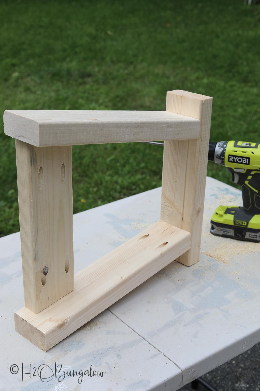 DIY modern rustic bench tutorial steps
