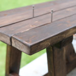 DIY Rustic Modern Bench Tutorial
