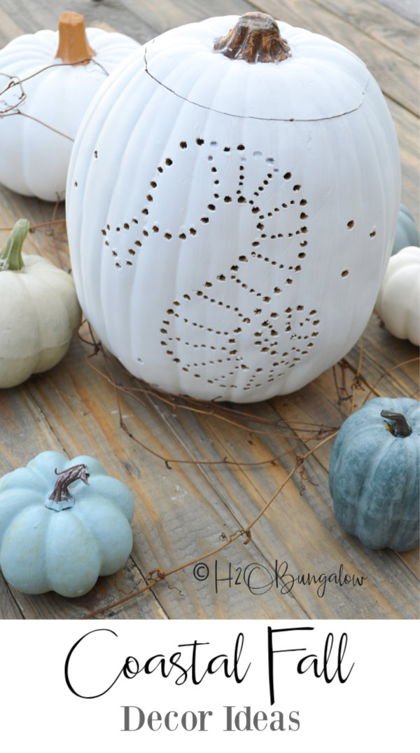 I found several coastal fall decorating ideas using soft colors and natural textures that welcome fall to the beach. Easy fall decor for the beach house or coastal home.