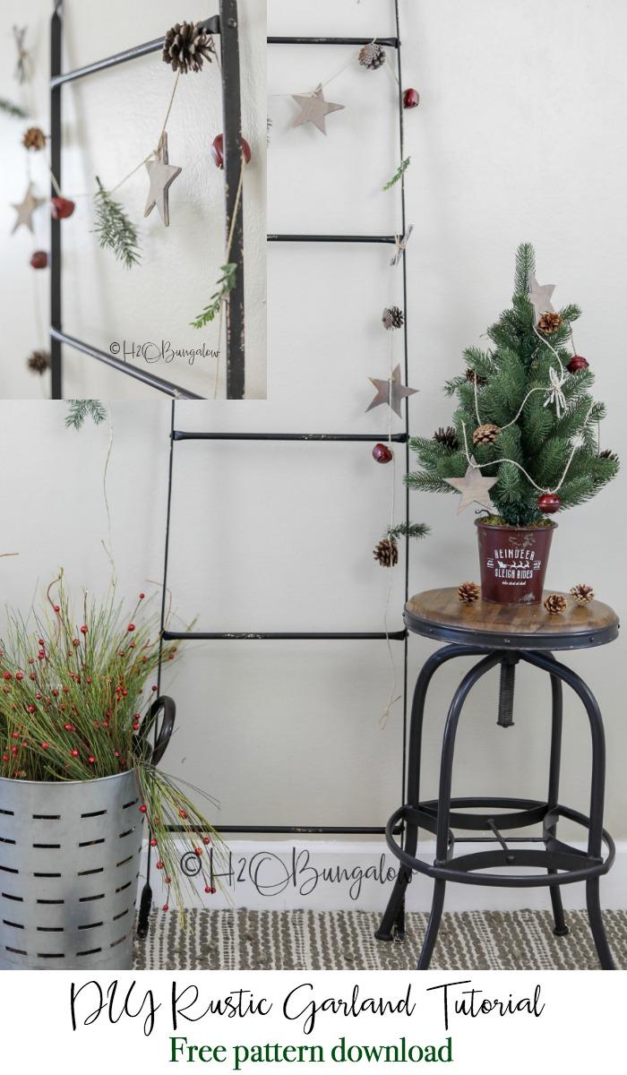 DIY rustic garland tutorial and free pattern download