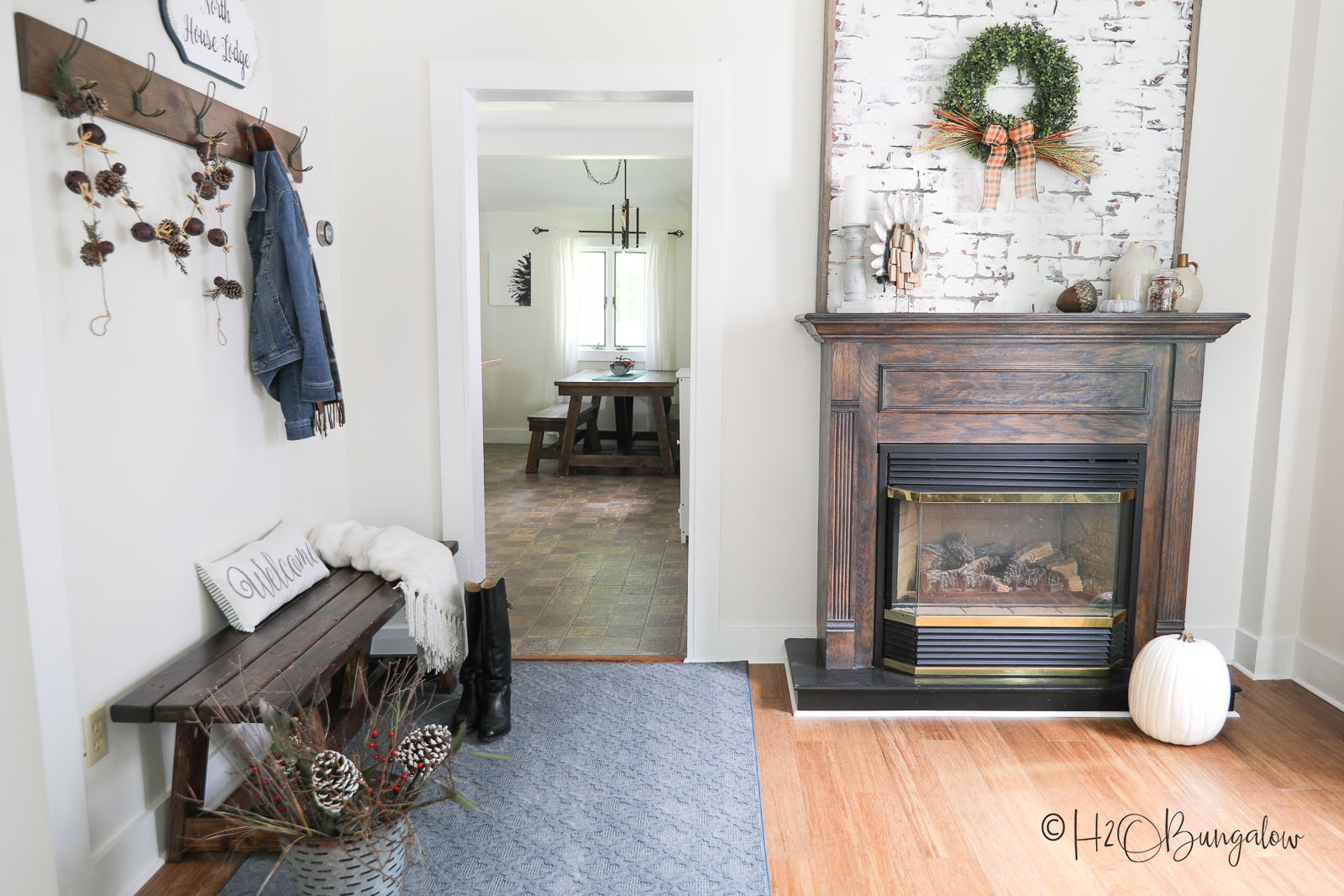how to create an inviting entryway when you don't have one