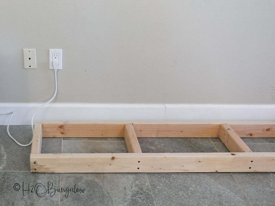 DIY fireplace base frame