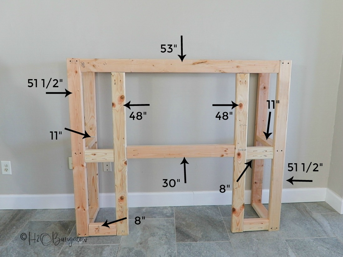 DIY fireplace frame dimensions for craftsman style fireplace
