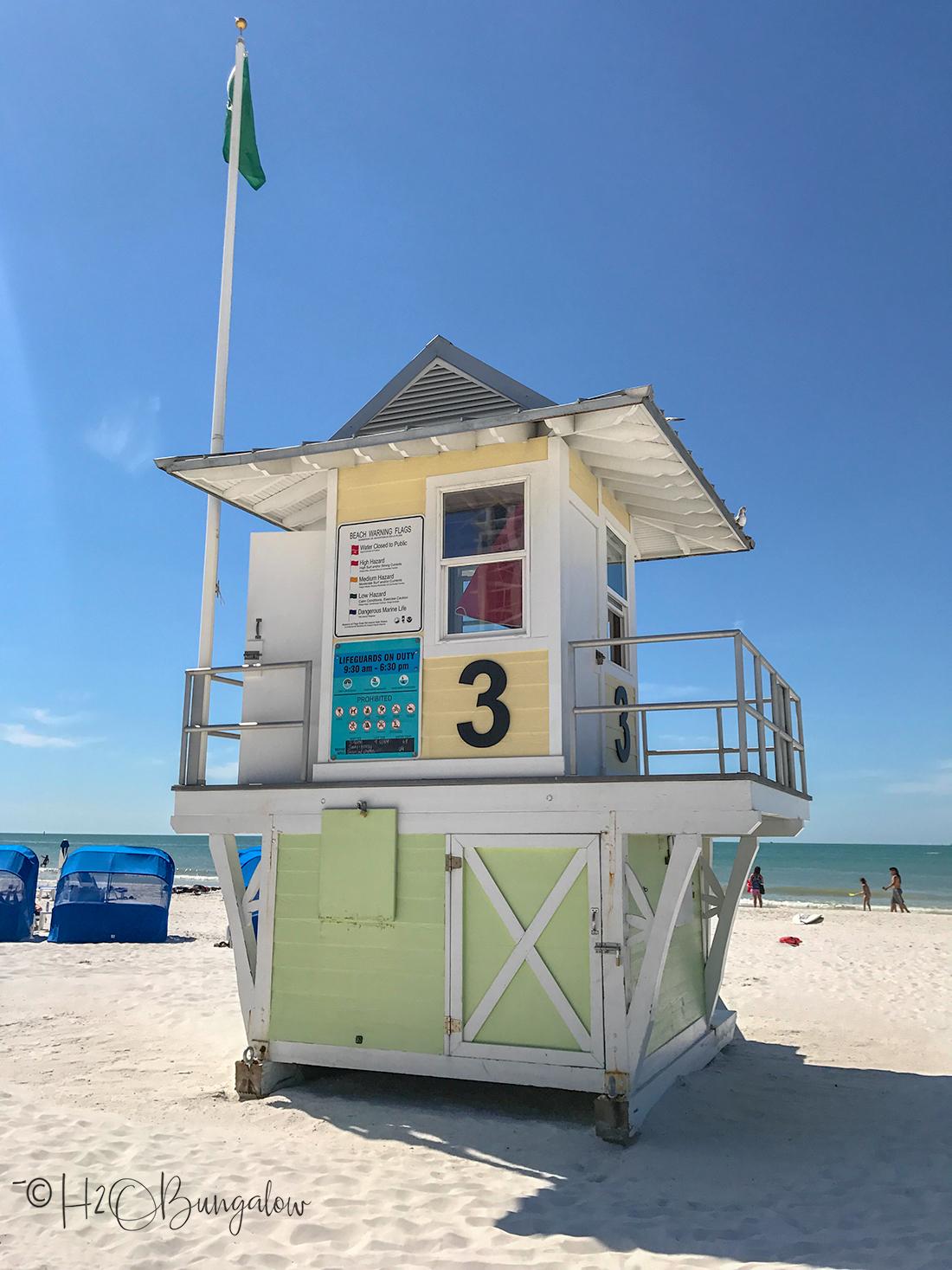 Beach guard shack in Clearwater FL